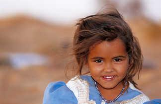 Fillette maure portrait, Mauritanie