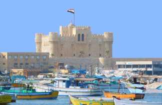 Fort et port de Qait Bay - Alexandrie, Egypte