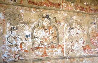 Fresque de Konchok Ling, dans le Haut Mustang