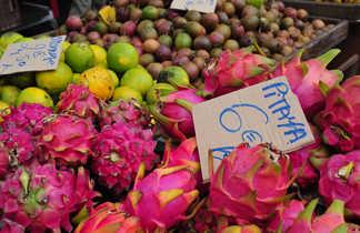 Fruits du marché à Saint Gilles, la Réunion