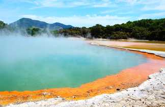 Géothermie de Wai-O-tapu entre Taupo et Rotorua