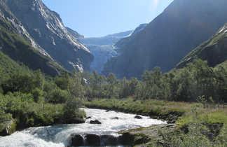 Glacier dans le sud Norvégien