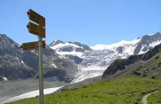 Glacier de Moiry dans le Valais