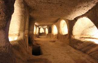 Grece, cyclades, milos, catacombes de Tripiti
