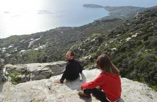 Grece, Cyclades randonnée sur l'île d'Andros