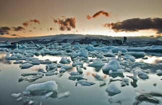 Photo de la lagune glacière de Jokulsarlon