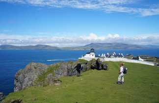 Île de Clare, Irlande, randonneuse