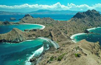 Point de vue sur l'île de Padar, Parc National de Komodo, Flores, Indonésie