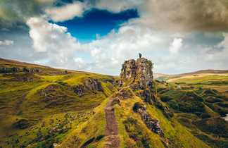 Ile de Skye,  site des fairy glen à Uig, rando