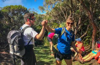 Instant de convivialité pendant le trek avec notre guide