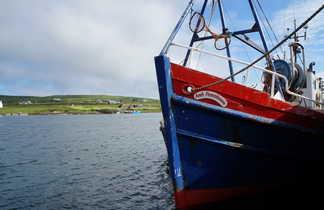 Irlande, les îles Skellig et une barque