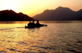 Kayak coucher du soleil, Oman