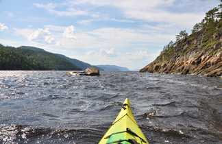 Kayak de mer dans le Fjord du Saguenay au Québec, Canada