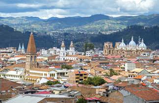 La cité coloniale de Cuenca,  dans le sud de l'Equateur