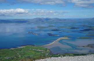 Vue de la Clew Bay, depuis le sommet du Croagh Patrick