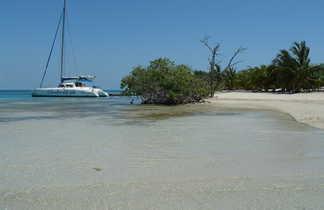 la plage de cayo Blanco