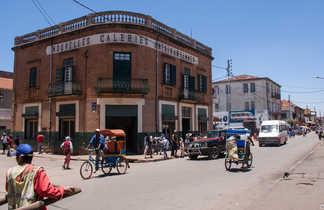 La ville d'Antsirabe sur les hautes terres