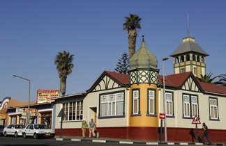 La ville de Swakopmund sur la côte atlantique namibienne