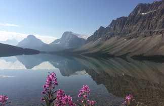 Lac Bow sur la route des glaciers au Canada