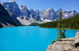 Lac Moraine, Parc national de Banff dans les rocheuses canadiennes