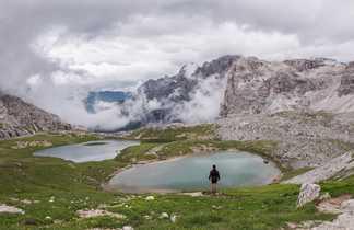 Lacs dans les Dolomites