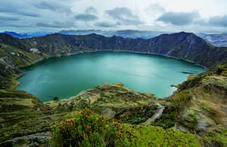 Lagune de Quilotoa en Equateur