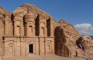 Le Deir - Monastère - de Petra en Jordanie
