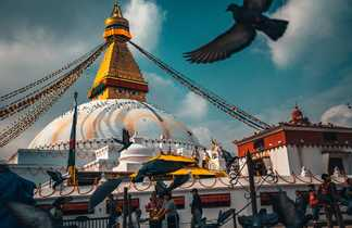 Le stupa de Bodhnath dans la vallée de Katmandou
