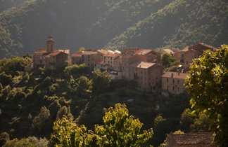 Le village de Soccia en Corse-du-sud