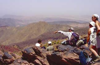 Lecture de paysage au col, Toubkal, Maroc
