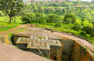 L'église Saint Georges à Lalibela en Ethiopie