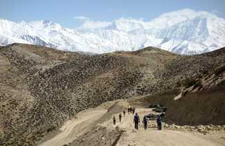 Les Annapurnas, vus depuis le Haut Mustang