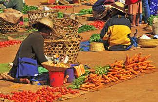 Les marchés et la vie locale de Madagascar