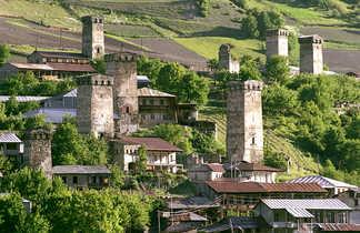 Les tours du village de Mestia