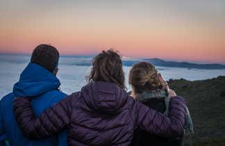 lever de soleil depuis le Piton des Neiges