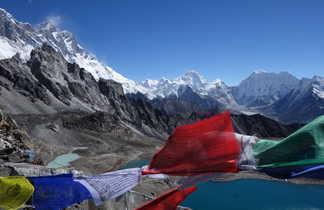 Panorama depuis le sommet du Kongma La, dans le Haut Khumbu