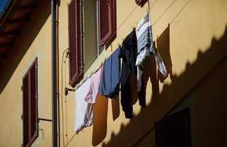 Linge qui sèche en Toscane