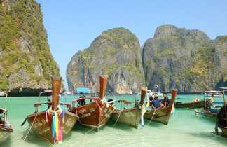 Long Tail Boat sur les plages du sud Thaïlande