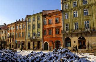 Lviv sous la neige
