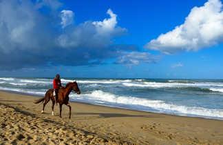 Madagascar à Cheval, mer avec les chevaux