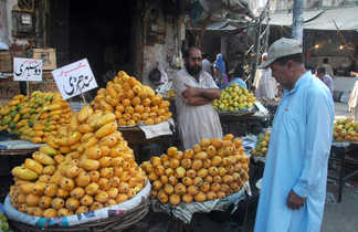 Marché au fruit à Rawalpindi