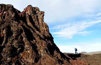 Marcheur Piton de la Fournaise, la Réunion