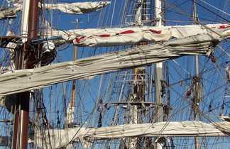 Mats dans le port breton de Brest
