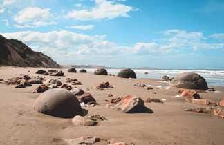 Moeraki Boulders sur la plage, Hampden