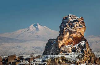 Montagne Erciyes en Cappadoce en hiver