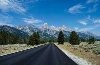 Route dans le Parc National de Grand Teton