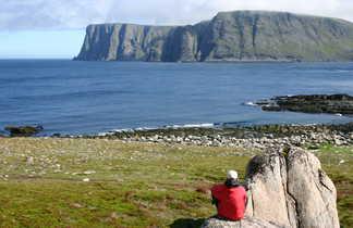 Pause face au Cap Nord
