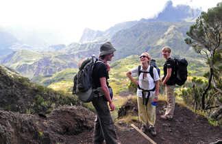 Pause randonnée cirque de Mafate, la Réunion