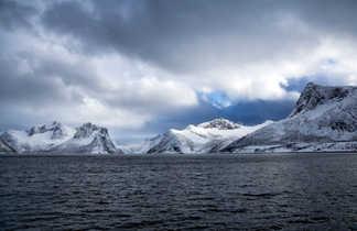 Paysage arctique de Scandinavie