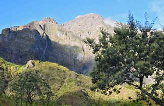 Paysage dans le cirque de Mafate, la Réunion